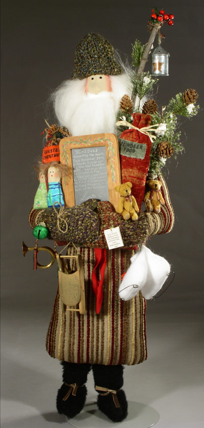 Father Christmas, with schedule and lantern